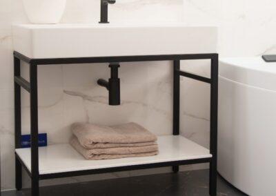 Matt Black and white theme Bathroom