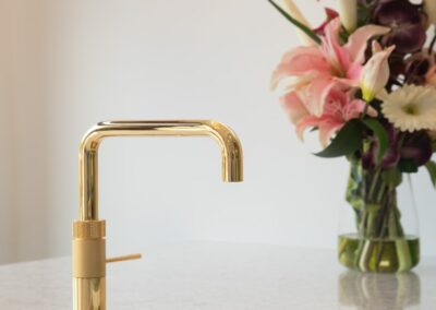 Cream and Gold Sink