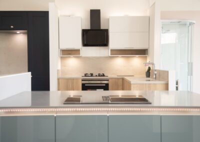 LED colour changing Kitchen Lights under recess of counter